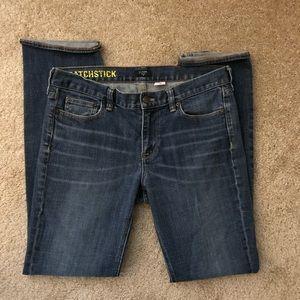 J.Crew Stretch Matchstick Jeans